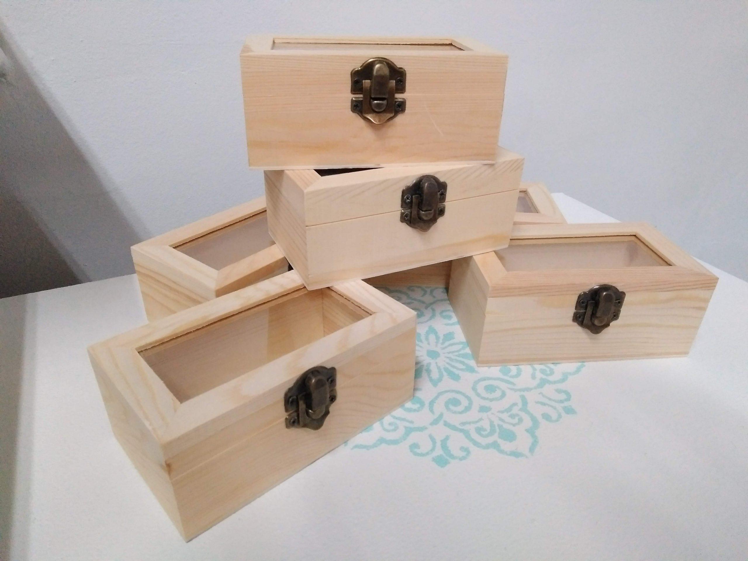 Soportes de manualidadesCajas de madera